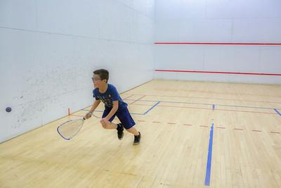 Lucas Keaveny runs down a shot in his 3rd place match.
