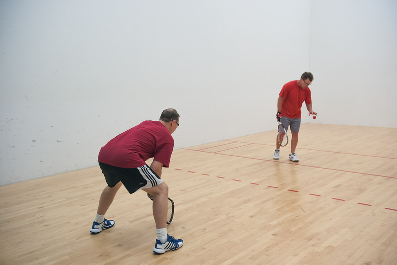 Men's Age Singles - 45+ Open/Elite Jeff Wagner win over Gregory Fox
