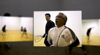"2005 Alaska State Doubles The 2005 Alaska State Doubles Tournament took place at The Alaska Club East - Feb 17-20th 2005, and as predicted there was plenty of GREAT RACQUETBALL starting with some early round upsets and leading up to the 7 Tiebreaker matches played on Sunday. Down 10-4 Brandon Cuaresma & Jesse Keaveny fought back with all they had including a ""Kneeling on the ground, behind the back save"" by Brandon at 9-10 to go on and win the Men's Open Title 15-9, 13-15, 11-10 over Jim Hage and Shane McAfee of Fairbanks. After taking out the #1 seeded team of Michelle Poage & Brandon Cuaresma in the semi's, and the #2 seeded team of Becky Bailey & Jesse Keaveny in the finals, Janice Vosika & Jim Derks earned the Mixed Open Title for 2005."