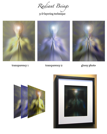 Center, layering technique. Radiant Beings by Brian Shepp