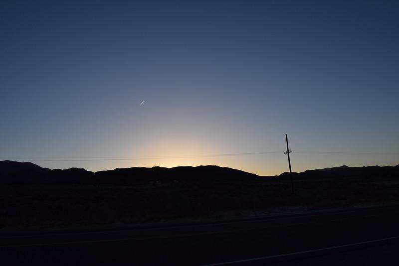 Sunset in Mina, NV