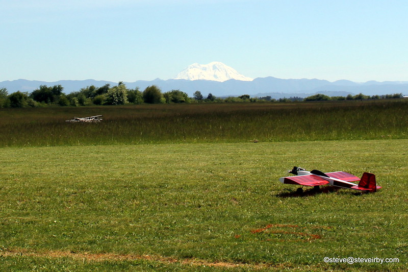 "The volcano's were ""out"" today. What a great day to be out flying"