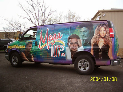 Vehicle wrap for Mega 107.5 in Dallas, TX.www.skinzwraps.com
