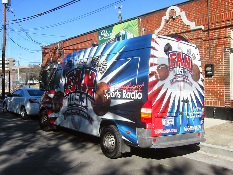 "Vehicle wrap for 105.3 The Fan in Dallas, TX. <a href=""http://www.skinzwraps.com"">http://www.skinzwraps.com</a>"