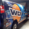 "Vehicle wrap on a Chevy Express Van for World Cast Radio in New York, NY.  <a href=""http://www.skinzwraps.com"">http://www.skinzwraps.com</a>"
