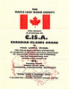 Canadian Islands Award 1996 Polar Bear Express Dxpedition to Paul Lantz VE3KBL for putting 5 islands on the air August 4 to 7, 196. Expedition Participation Certificate.