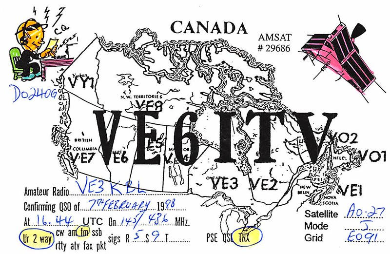 VE6ITV via AO-27