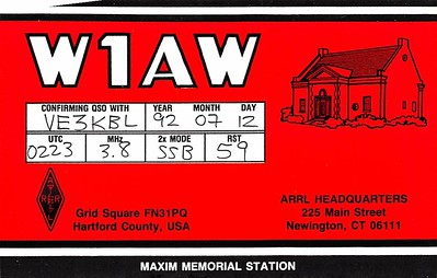 Scanned QSL cards