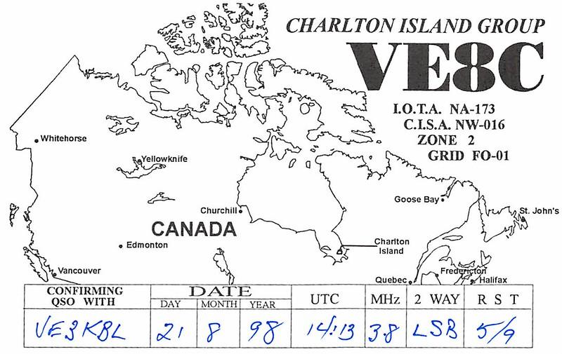 VE8C Charlton Island