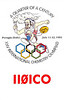 QSL card VE3KBL Moosonee with II0CO Perugia Umbria Italy - XXV International Cemistry Olympiad special events station - front with logo