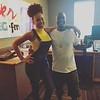 Demetria McKinney visit Larry at  Power 98 Radio Station - July 28, 2016 in Charlotte, NC