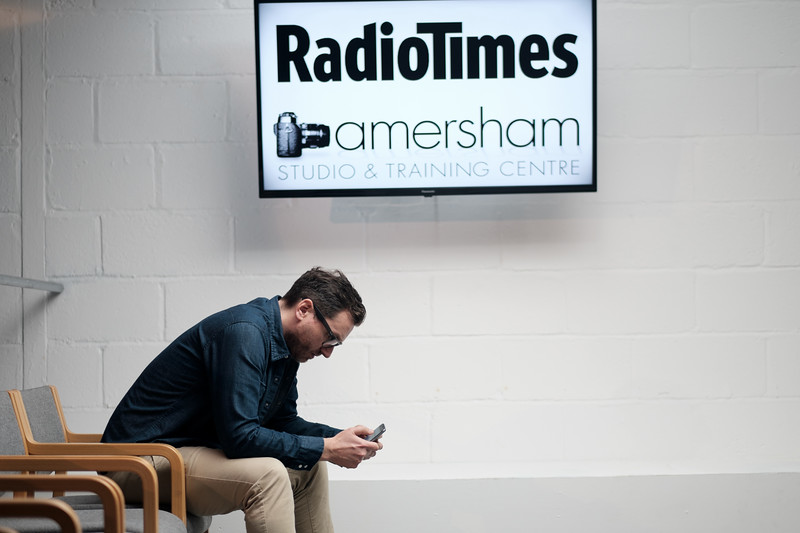 Russell Grant for Radio Times Magazine at Amersham Studios (BTS by Simon Ellingworth)