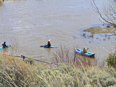 The inflatable kayak on the right is the type that Will and I took down the Poudre.  It's what I'd like to get some day.