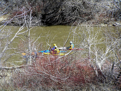 Hiking back up the river to the parking lot, I saw these kayakers headed for the rapids.  Little do they know what's just down stream : )