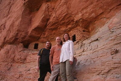 EJ, Joe, and Sherry at the Nankoweap Granaries.