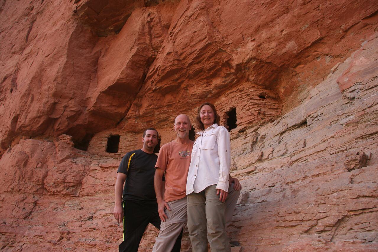 EJ, Joe, and Sherry at the Nankoweap Granaries.