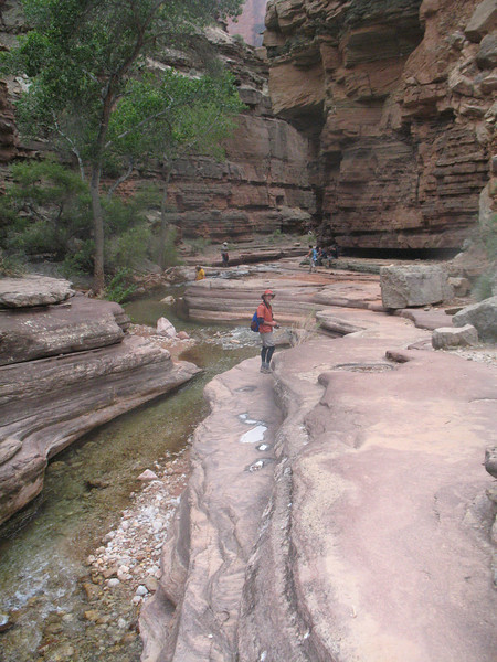 This area is called The Patio.  This is Deer Creek.  There was a bit of spitting rain -- just enough to keep the day comfortable for our hiking.