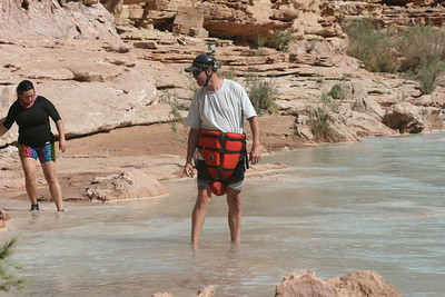Didn't anybody show Wick how to wear a life vest?  Mike is preparing for an adventure on the Little Colorado River, a tributary to the Colorado.