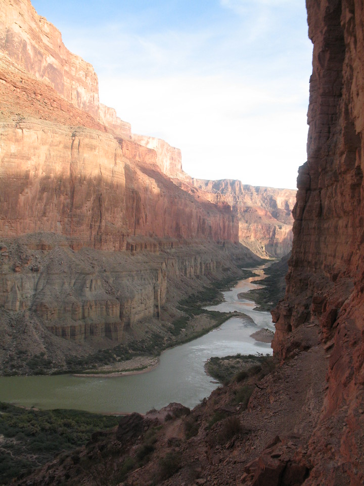 Narrow canyon walls, and a meandering river make for beautiful scenery.