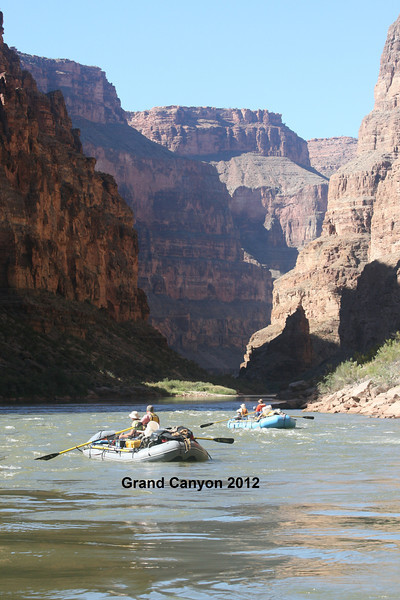 Grand Canyon 2012:  Fourteen friends form a tribe as we travel on our own down the Colorado River in the bottom of the Grand Canyon for 21 days.  There is no electricity, no plumbing, and no cell service.  Everything we need we pack in when we launch. We respect this wilderness, and leave no trace as we depart each camp.  Everything is packed out, including human waste.