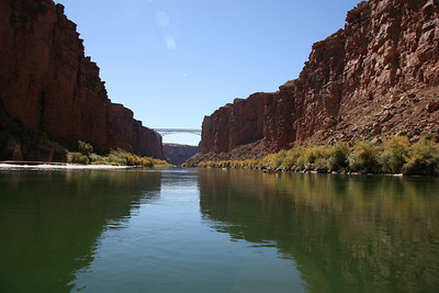 Looking back towards the Navajo bridge, about mile 5.