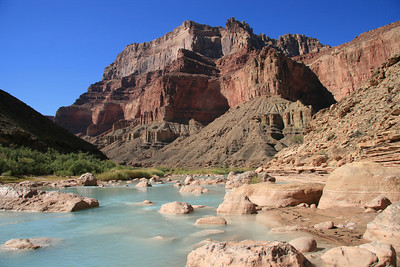 The Little Colorado River is a light aqua color from the minerals in it.