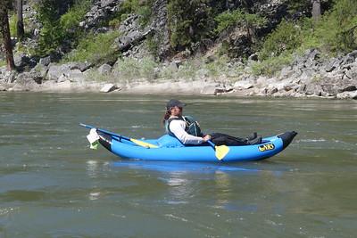 Boating - John Samarin IK-ed the whole river.  Photo by Joe C.