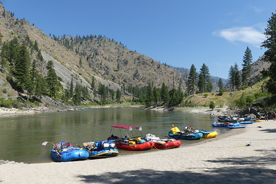 Boating - We were 16 people in 7 rafts and 2 IKs.  (Inflatable Kayaks).  Photo by Joe C.