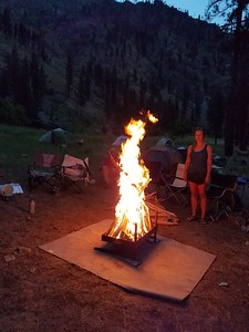 Activities -  Can this campfire be too tall to jump?  Photo by Candice.