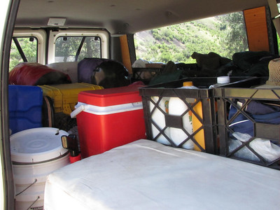 The van is well packed.