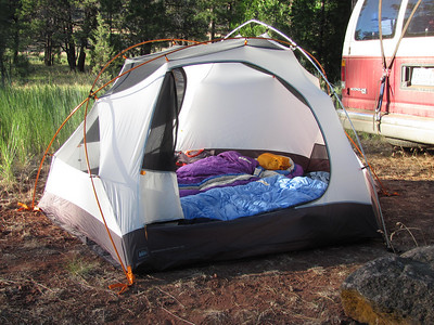 A typical campsite.
