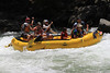 Joe's boat runs Trouble Maker rapid on Saturday. This was Chloe's first whitewater rafting trip. Crew was Joe, Sherry, Roger, Jan, Ken, and of course Chloe.