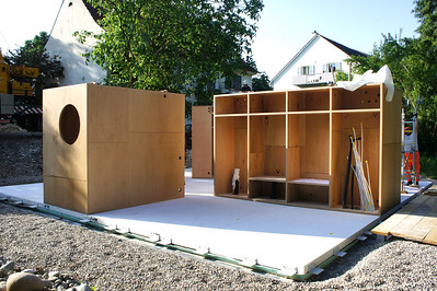 09 movable house Holzkerne | wooden cores