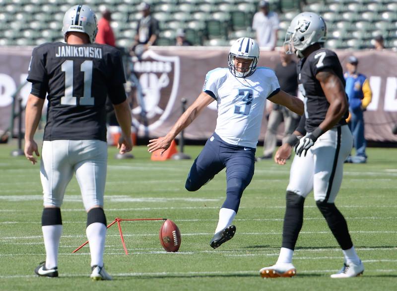 during the Oakland Raiders vs Tennessee Titans preseason game at the Oakland Alameda Coliseum Saturday Aug. 27, 2016. (Bill Husa -- Enterprise-Record)