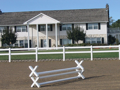 White 2 Rail Fence