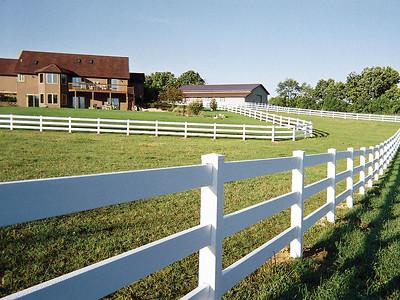 White 3 Rail Fence