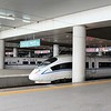 China High-speed Rail (HSR) CRH380B & CRH2A-4051 at Xi'an North (Xianbei) station
