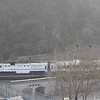 China Railways Qishuyan NDJ3 Class DMU approaching Badaling Station, near the Great Wall North of Beijing