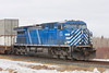 CEFX 1043, a leased AC4400, pulls a CP container train through Barclay, Ontario (east of Dryden on the Ignace Subdivision).