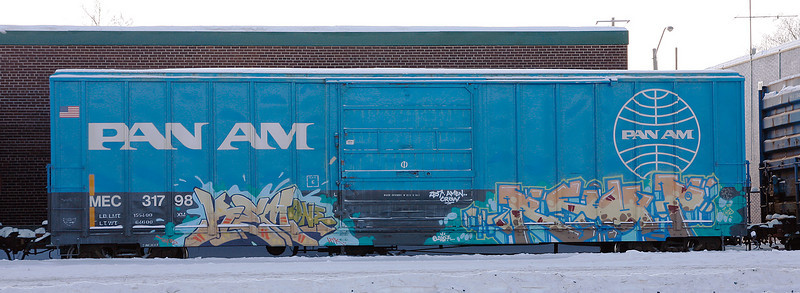 Pan Am box car, behind the Beer Store in Dryden, Ontario.