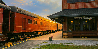Morning at the Grand Junction Depot as we await the train!  The Tennessee Valley Railroad Museum runs the Summerville Steam Special from Chattanooga, TN to Summerville, GA, 102 miles round trip.    #Tenn_valley_RR #railroad #train #southern4501 #steamengine #locomotive #granddepotjunction #traindepot #trainstation #chattanoogaTN #railroadexcursion #tennesseevalleyRR #bluemoonistic