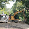 Contruction work on the new Fitchburg and Leomisnter rail trail was underway just off of Priest Street in Leominster on Thursdsay monring. SENTINEL & ENTERPRISE/JOHN LOVE