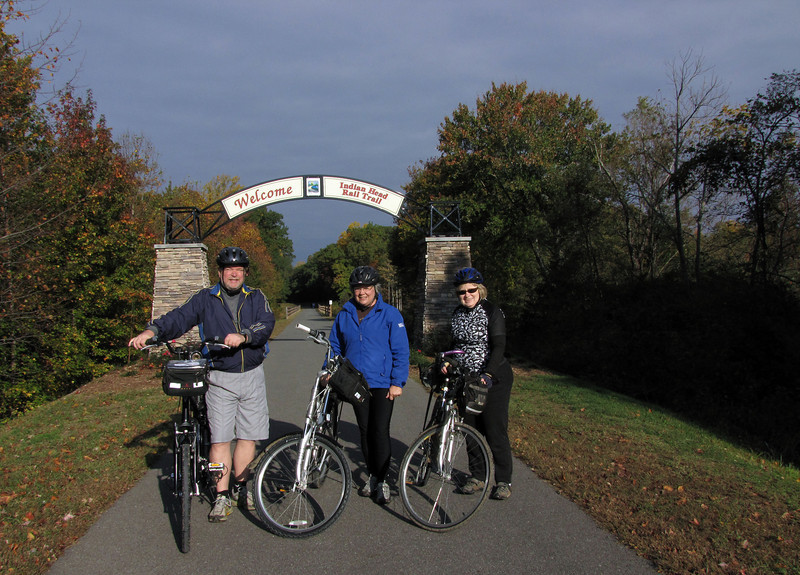 Preparing to ride west from White Plains MD trailhead
