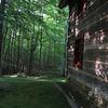 Back yard of the Log House Homestead B&B in Cairo West Virginia.