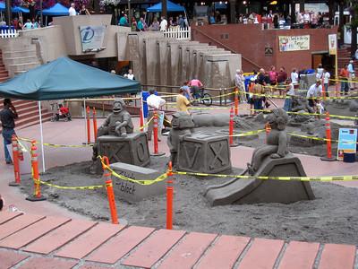 Pioneer Square Sand Sculptures