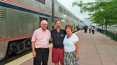 Amtrak's Empire Builder - Traveled from Seattle, WA, to Chicago, IL - Visited my friends Tom and Nancy briefly while stopped in Wenatchee, WA
