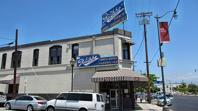 Los Angeles and Amtrak's Surfliners to Fullerton, CA - Philippe's-a great place to eat near Union Station