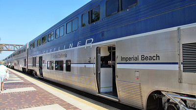Los Angeles and Amtrak's Surfliners to Fullerton, CA