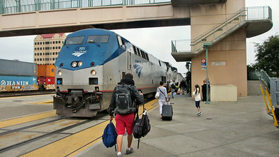 A Day in Emeryville, CA, and then traveled on Amtrak's Coast Starlight from Emeryville, CA, to Santa Barbara, CA