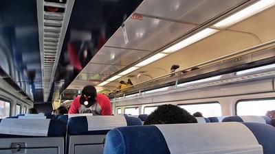 On Board Amtrak Illinois Zephyr
